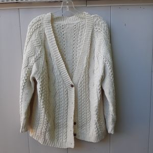 Vintage knit  sweater as is needs new buttons
